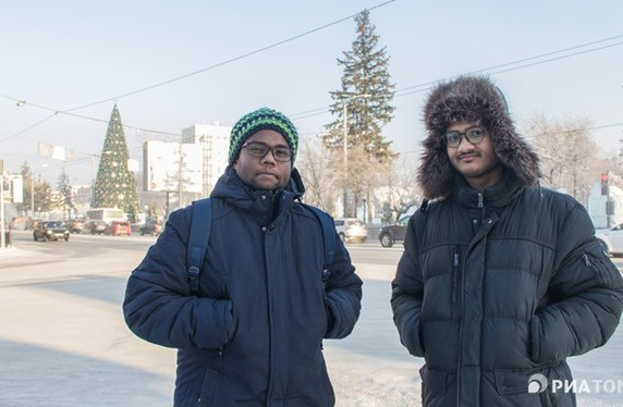 Tomsk friends, Indian cuisine: how Saif and Gokul celebrate New Year